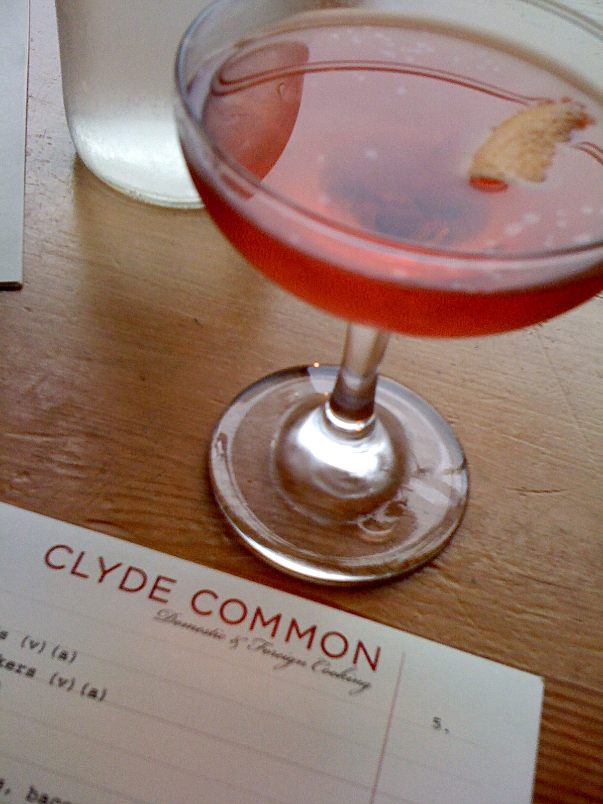 Barrel-aged Negroni cocktail at Clyde Common