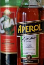 Aperol and Cynar