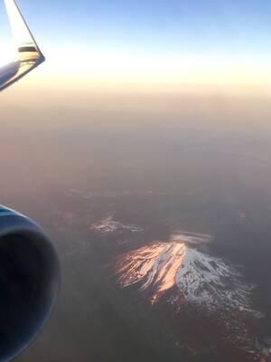 Mt. Jefferson, in flight