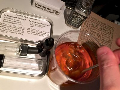Using the Travel Cocktail Kit